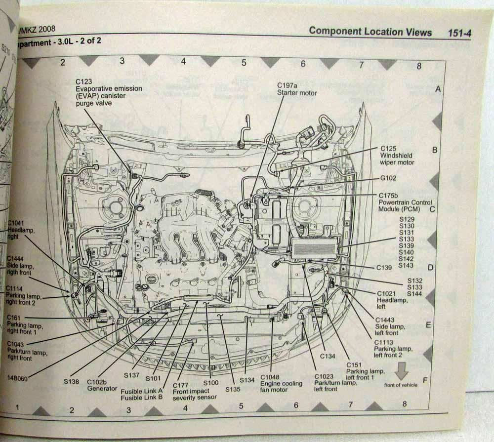 hight resolution of 2008 ford fusion mercury milan lincoln mkz electrical wiring diagrams manual
