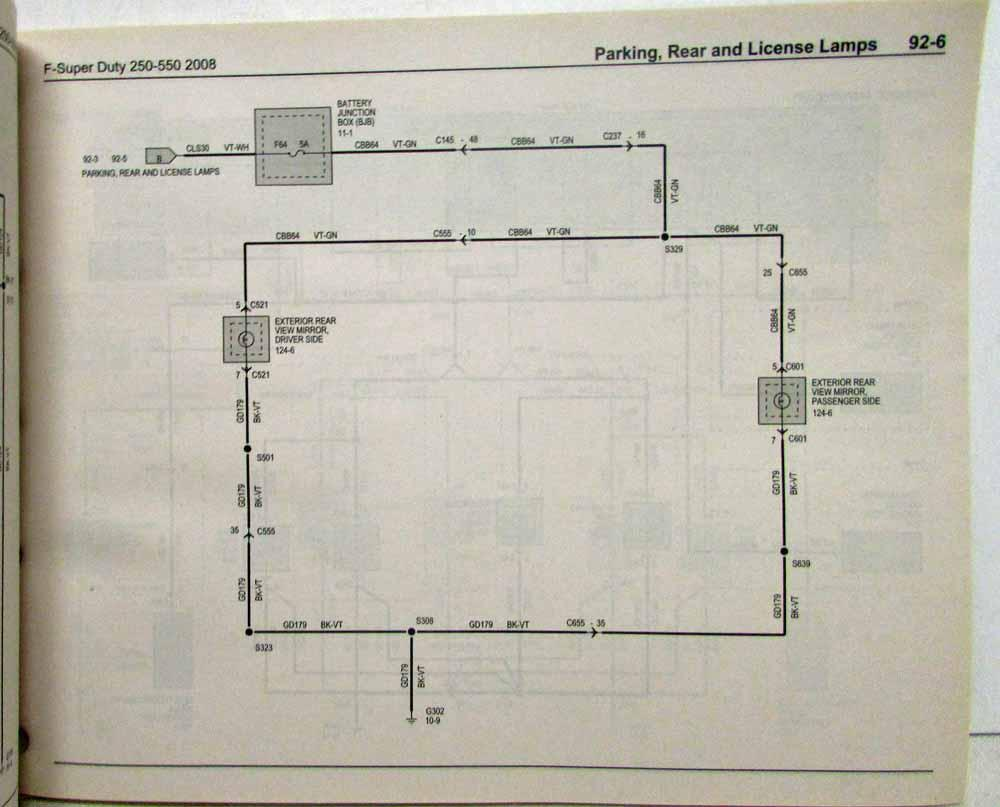hight resolution of 2008 ford f 250 350 450 550 super duty pickup electrical wiring diagrams manual