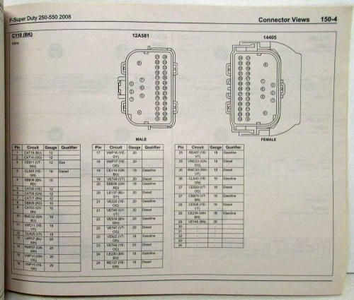small resolution of 2008 ford f 250 350 450 550 super duty pickup electrical wiring diagrams manual