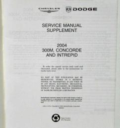 2004 chrysler 300m concorde and dodge intrepid service shop repair manual supp [ 795 x 1000 Pixel ]