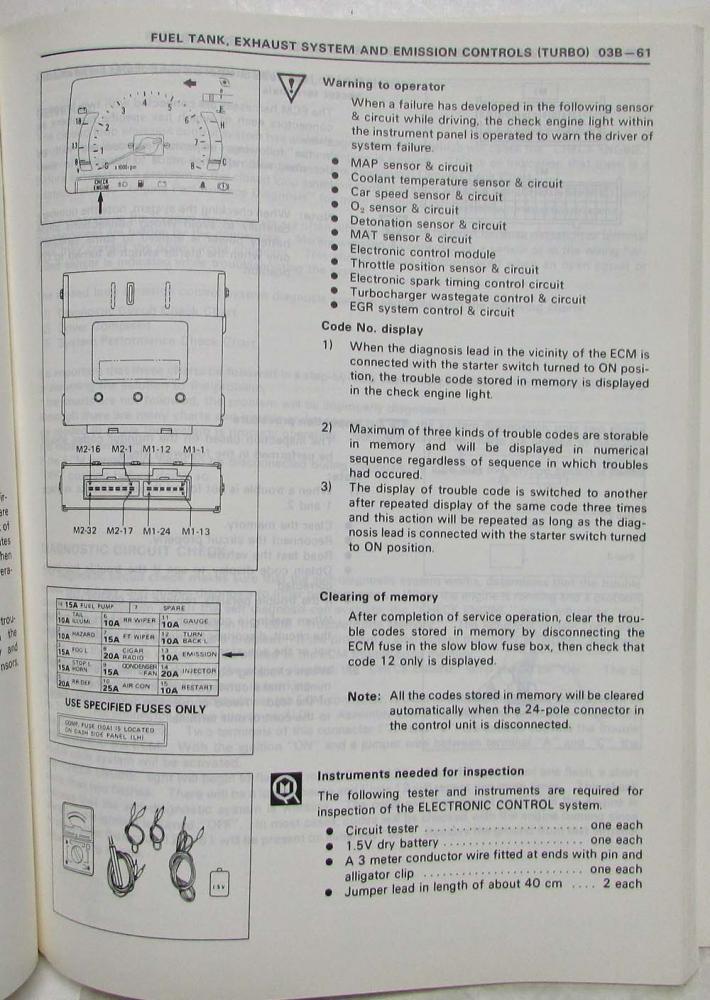 1988 Isuzu I-Mark Service Shop Repair Manual
