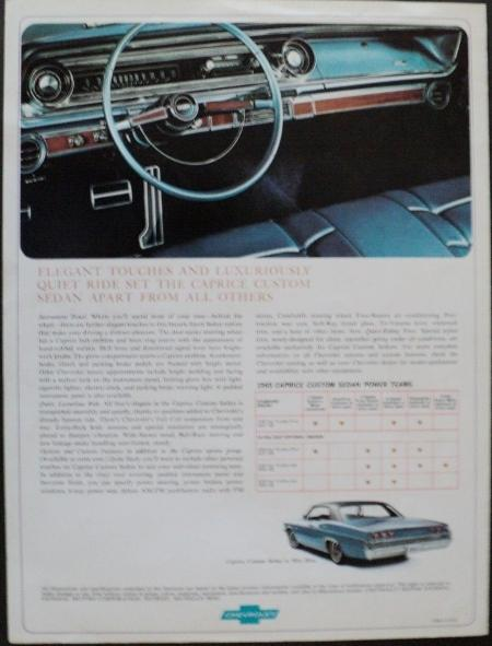 1965 Chevrolet Caprice Custom Sedan Original Color Dealer