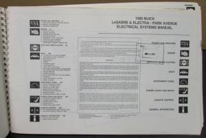 1989 Buick Dealer Electrical Wiring Diagram Service Manual