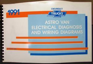 1991 Chevrolet Electrical Wiring Diagram Service Manual Astro Van Models Repair