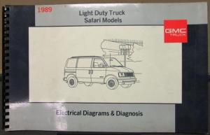 1989 GMC Electrical Wiring Diagram Service Manual Light