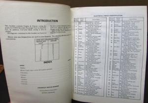 1980 Chevrolet Electrical Wiring Diagram Dealer Manual All