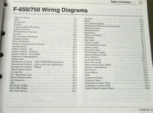2003 Ford Dealer Electrical Wiring Diagram Manual F650/750