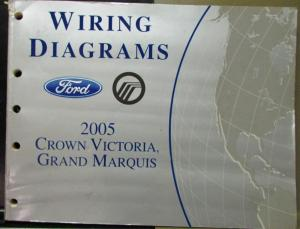 2005 Ford Mercury Electrical Wiring Diagram Manual Crown