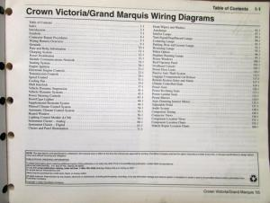 2005 Ford Mercury Electrical Wiring Diagram Manual Crown
