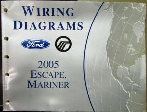 2005 Ford Mercury Electrical Wiring Diagram Service Manual Escape Mariner