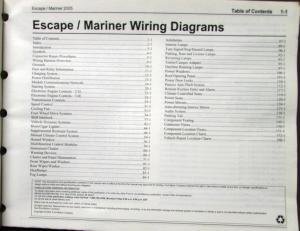 2005 Ford Mercury Electrical Wiring Diagram Service Manual