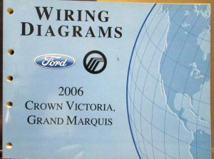 2006 Ford Mercury Electrical Wiring Diagram Manual Crown