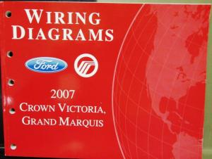 2007 Ford Mercury Electrical Wiring Diagram Manual Crown