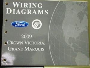 2009 Ford Mercury Electrical Wiring Diagram Manual Crown