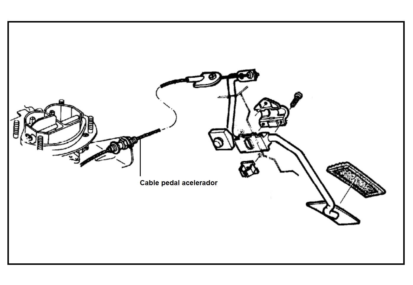 Cable Guaya Pedal Acelerador Para Chevrolet Chevette