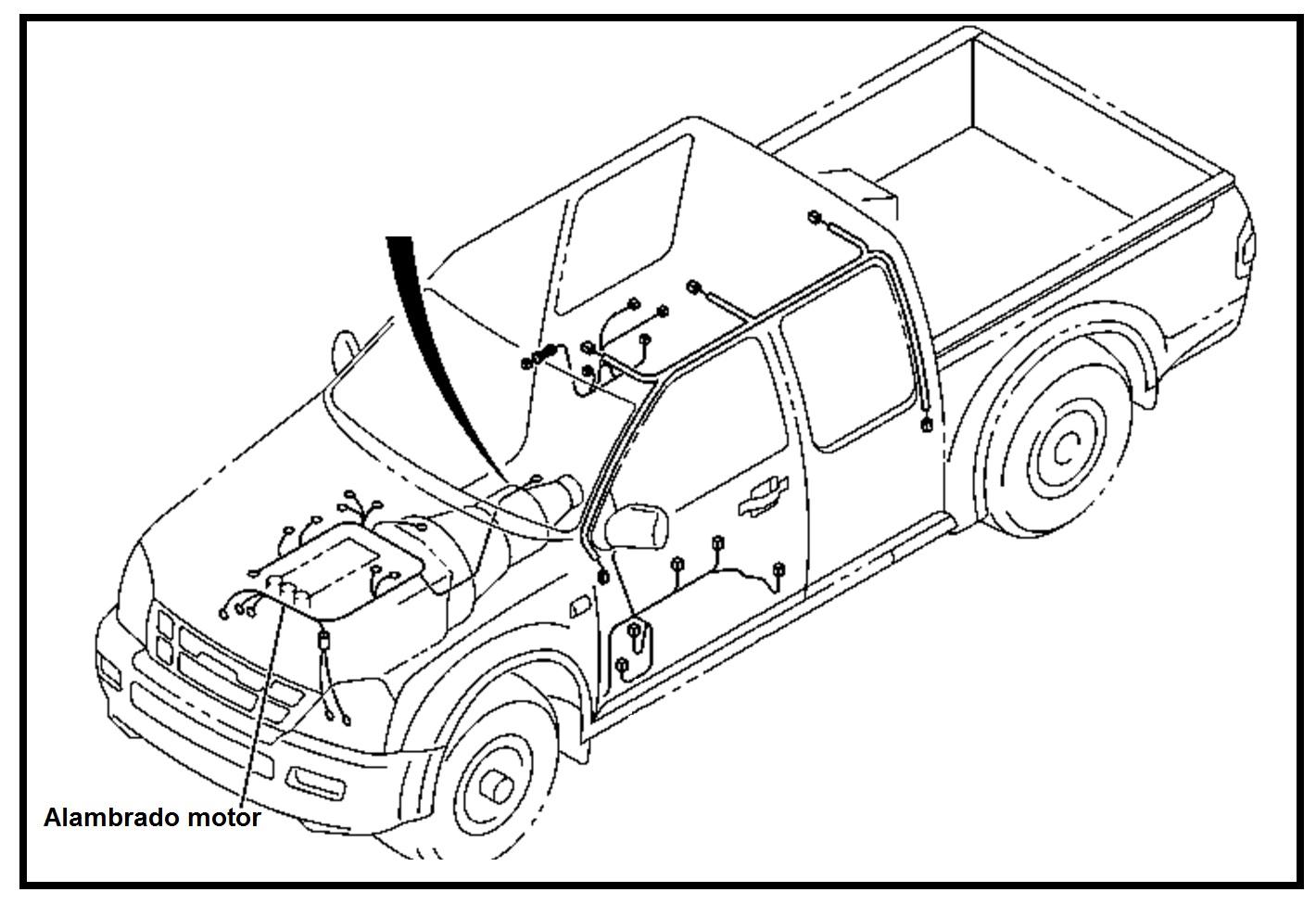 Alambrado Cableado Instalacion Motor Chevrolet Luv Dmax