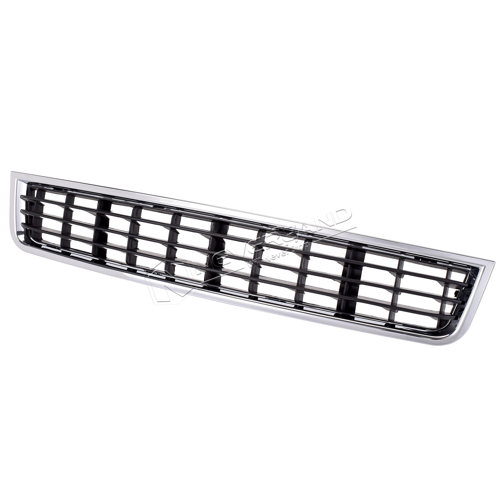 Chrome + Black Front Bumper Lower Center Grille For Audi