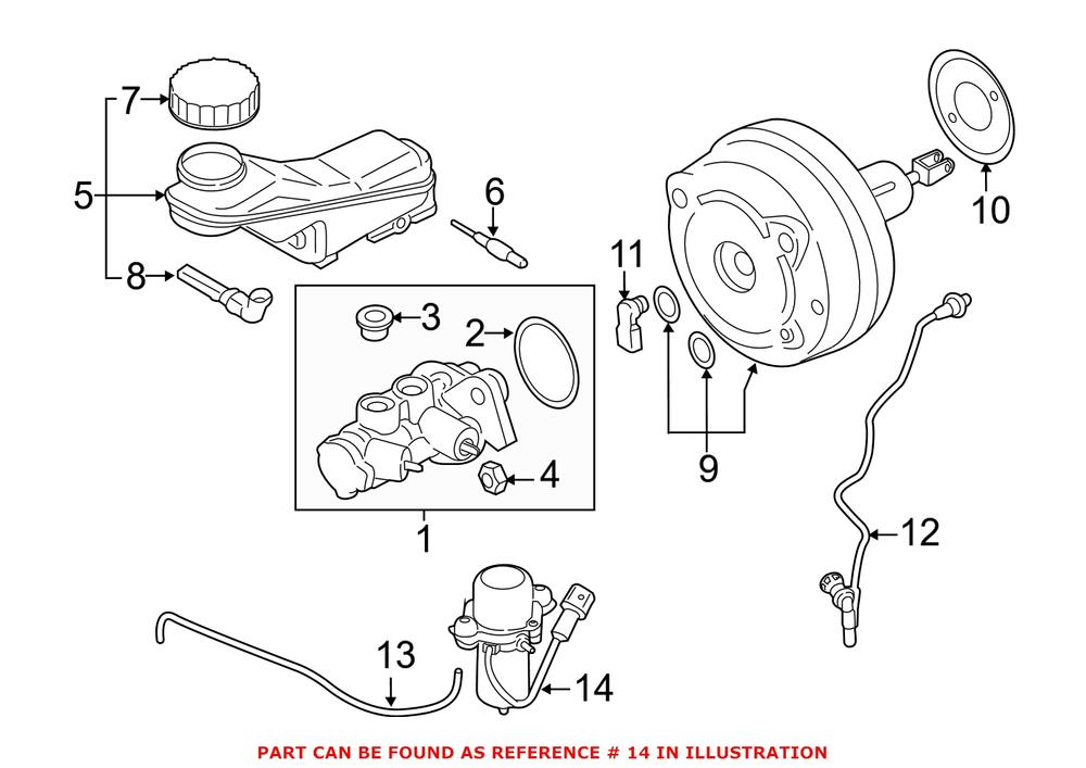 BMW Power Brake Booster Vacuum Pump 34336857405