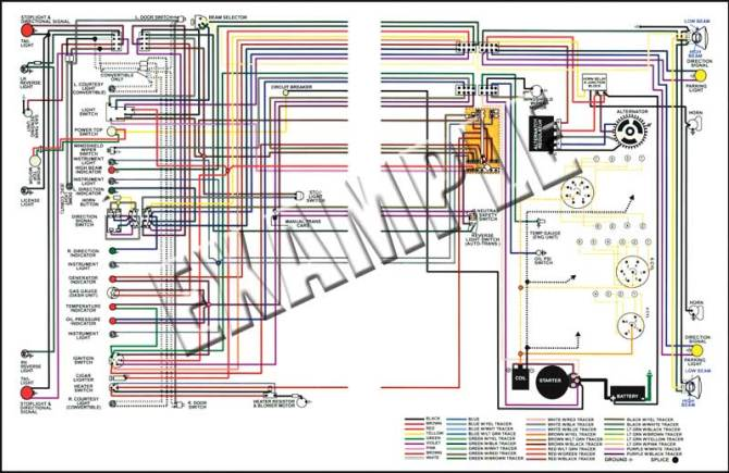 14509  1960 gmc truck full colored wiring diagram