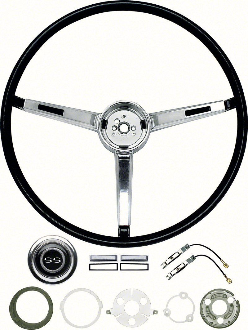 hight resolution of 1967 chevrolet chevy ii nova parts interior hard parts steering wheel and column classic industries