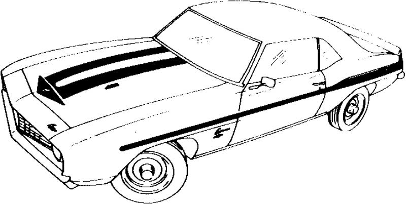 Free coloring pages of 1976 camaro