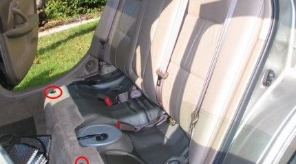 Remove rear seat to gain access to the fuel pump wire connection diagram.