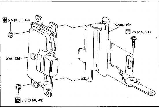 Снятие и установка блока управления вариатором