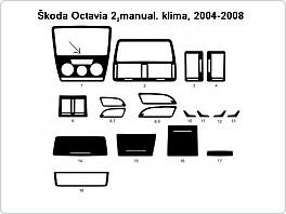Dekor interieru Škoda Octavia 2, 2004-2008 manuální