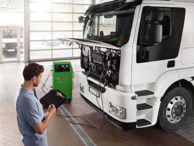 Diagnosis vehículo industrial