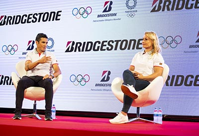 Presentación del Roadshow de los Juegos Olímpicos de Bridgestone