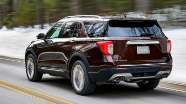 New Ford Explore 2020 rear
