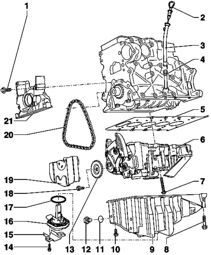 Ауди А4. Снятие и установка масляного поддона. Audi A4