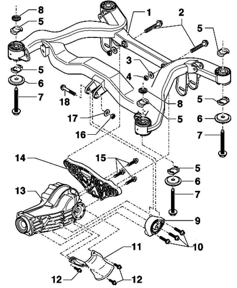 Ауди А4. Задняя подвеска. Audi A4