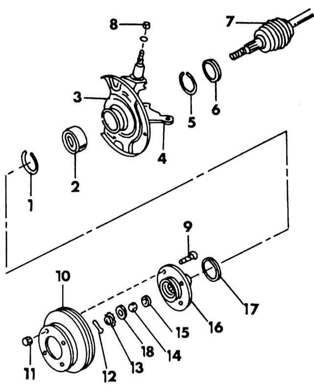 Ниссан Примера. Передняя подвеска. Nissan Primera