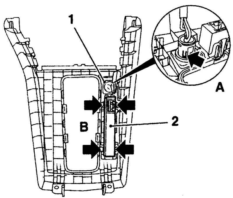 Опель Астра. Снятие и установка выключателя зимнего режима