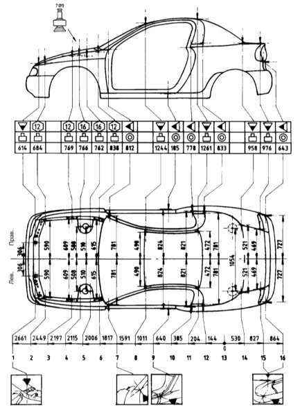 Опель Корса Б, Комбо, Тигра. Кузов. Opel Corsa B / Combo