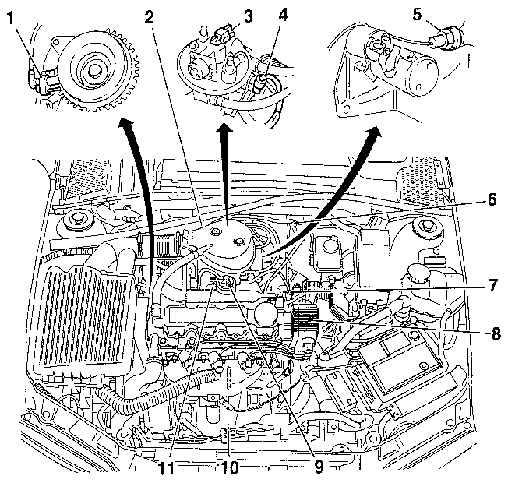 Опель Вектра Б. Система впрыска топлива. Opel Vectra B