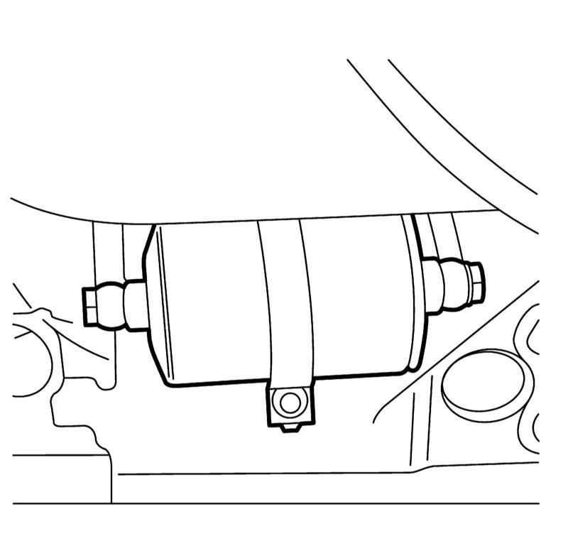 Сааб 9-5. Замена топливного фильтра. Saab 9-5