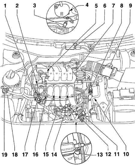 Фольксваген Гольф 4. Система управления двигателем