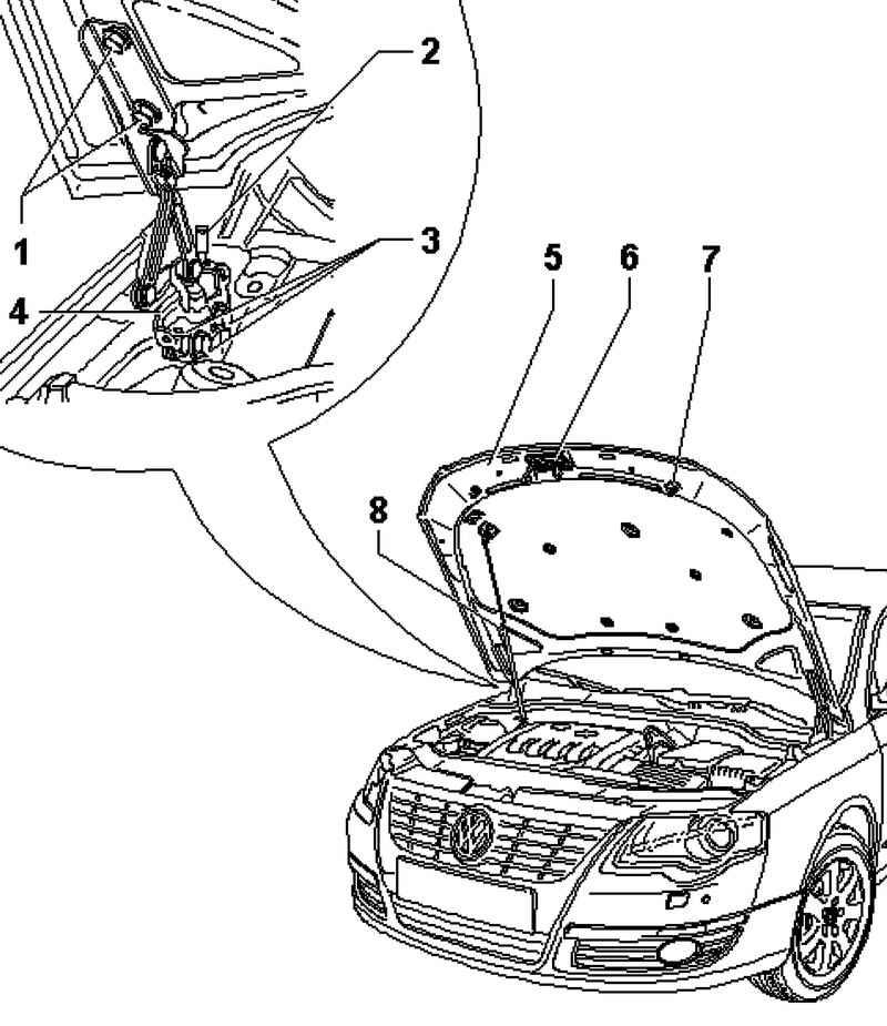 Фольксваген Пассат Б6. Регулировка капота. Volkswagen