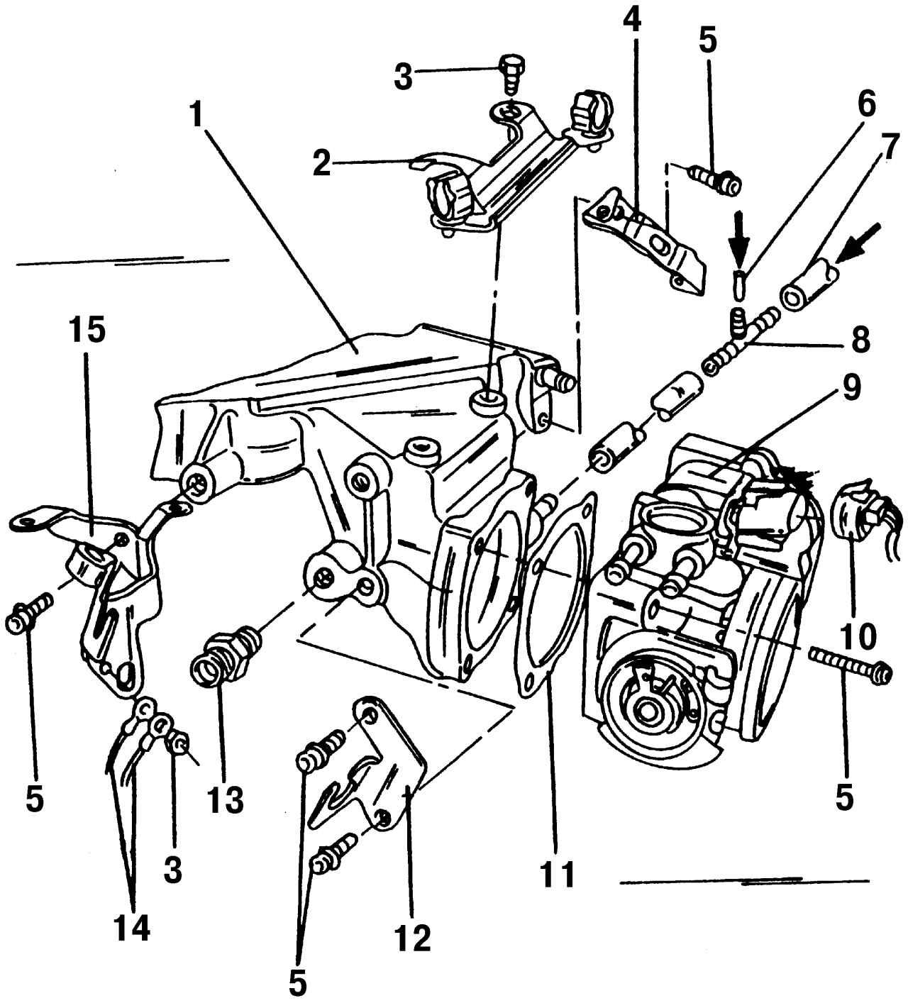 Фольксваген Шаран. Корпус дроссельной заслонки. Volkswagen