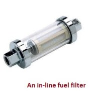 an in-line fuel filter