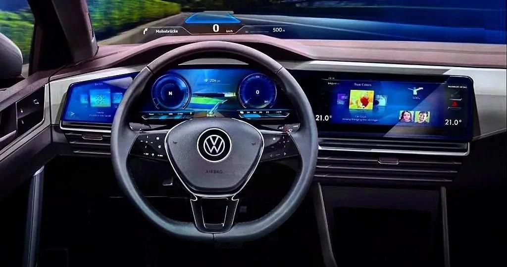 Nuova Volkswagen Golf 2020 ecco gli interni high tech