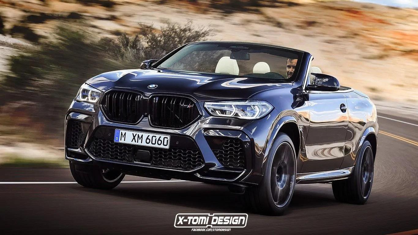 Se la nuova BMW X6 M fosse cabrio? Il render esclusivo