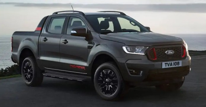 Nuovo Ford Ranger Thunder 2021, pick-up limitato a 4.500 unità