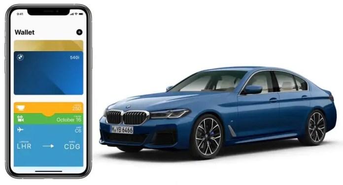 BMW Serie 5 2021, prima auto con la smart key di iOS14