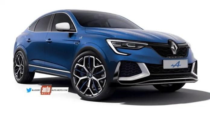 Nuova Renault Arkana Alpine 2021, il Rendering in Anteprima