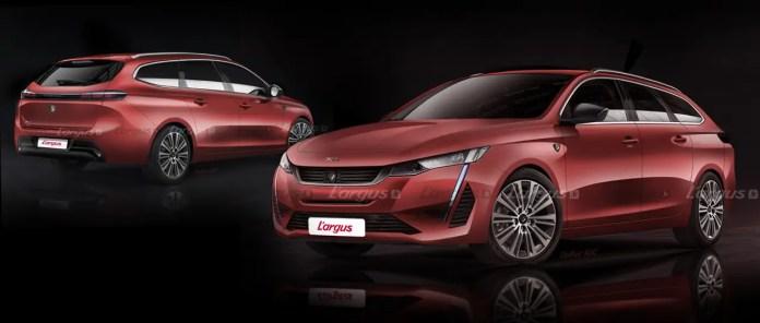 Nuova Peugeot 308 2021, il Rendering della Station Wagon