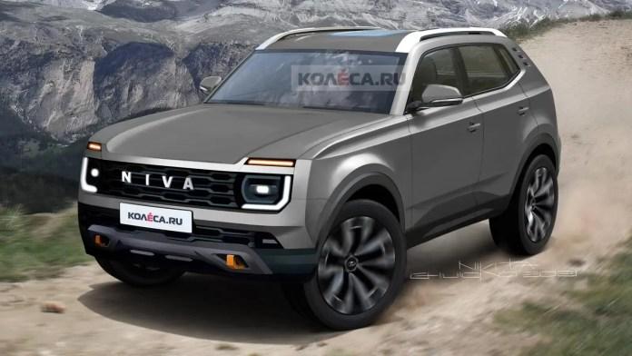 Nuova Lada Niva 2023, Anteprima Rendering