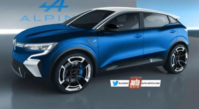Nuova Renault Megane 2022, il SUV Alpine in Rendering